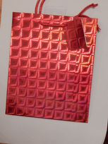 Red Holographic Gift Bag